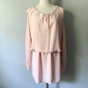 Amanda Uprichard Pink Cold Shoulder Cut Out Dress